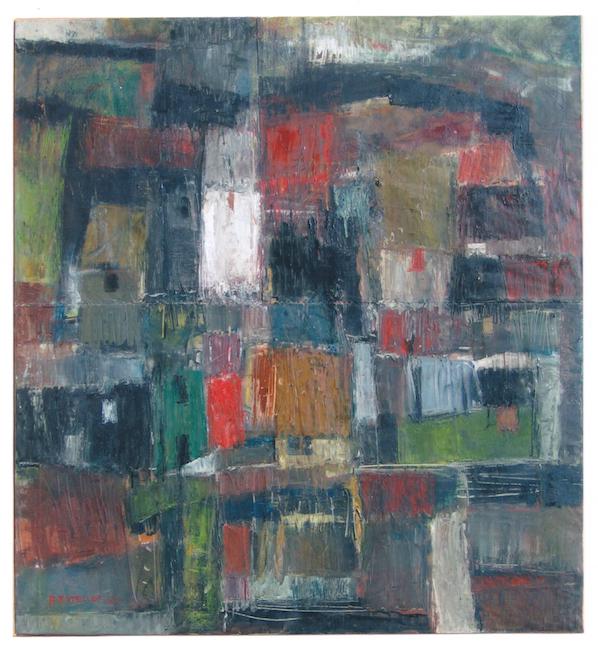Casas - 1962 - óleo sobre lienzo - 100 x 92 cm.