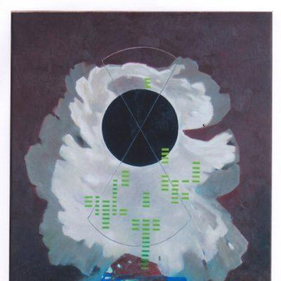Mensajes interestelares - 2008 - óleo sobre lienzo - 92 x 65 cm.