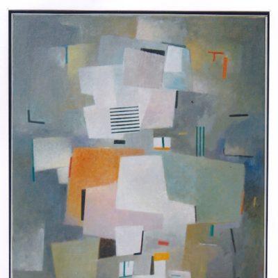 Composición con lineas - 2008 - óleo sobre lienzo - 73 x 60 cm.