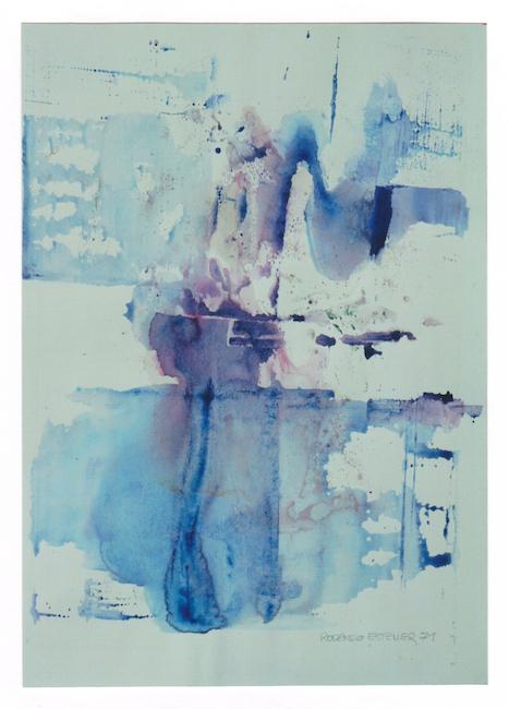 Acuarela en azul - 1971 - acuarela - 27 x 37 cm.