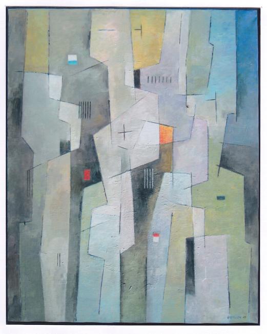 Composición vertical I - 2009 - óleo - 92 x 73 cm. (colección María Martínez - Vilafamés)
