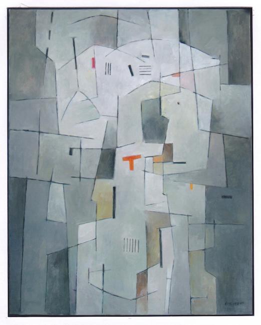 Composición Vertical II - 2009 - óleo sobre lienzo - 92 x 73 cm.  (Museo de Vilafamés)