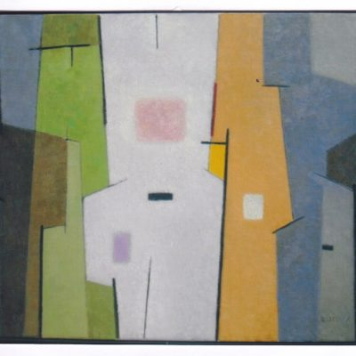 Blanco, verde, ocre - 2010 - óleo sobre lienzo - 50 x 61 cm.
