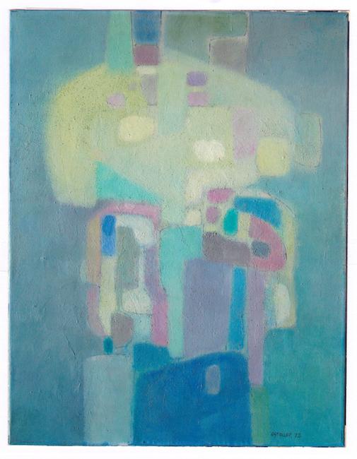 Pequeño fantasma - 1972 - óleo - 90 x 70 cm.