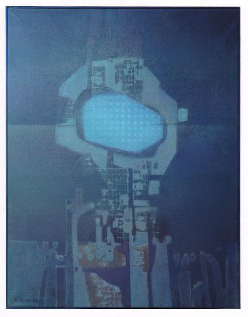 Torre de señales - 1972 - óleo sobre lienzo - 90 x 70 cm.