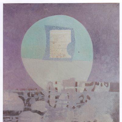 Noche iluminada - 1973 - óleo sobre lienzo - 90 x 70 cm. (colección Helmut Ring - Ratingen)