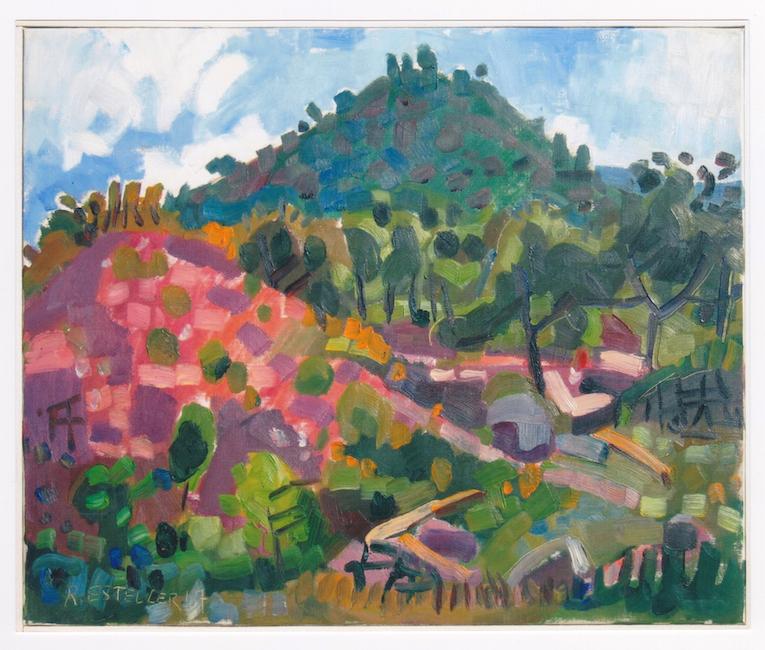 El monte rojo - 1967 - óleo sobre lienzo - 38 x 46 cm.