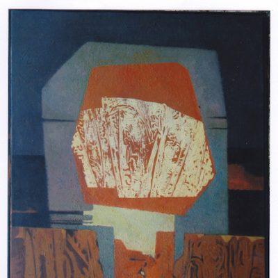 Amenaza - 1974 - óleo sobre lienzo - 100 x 70 cm. (colección Manuel Esteller)