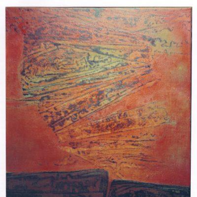 Volcán - 1974 - óleo sobre lienzo - 80x 60 cm. (colección Elena Lengua - Eslida)
