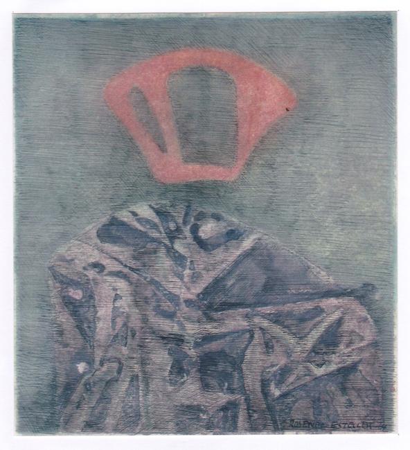 Visión - 1974 - óleo, plata y tinta - 41,6 x 31,4 cm.