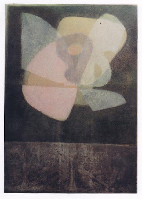 Mariposa - 1974 - óleo y plata sobre papel - 45 x 55 cm. 8colección Rita Bonet)
