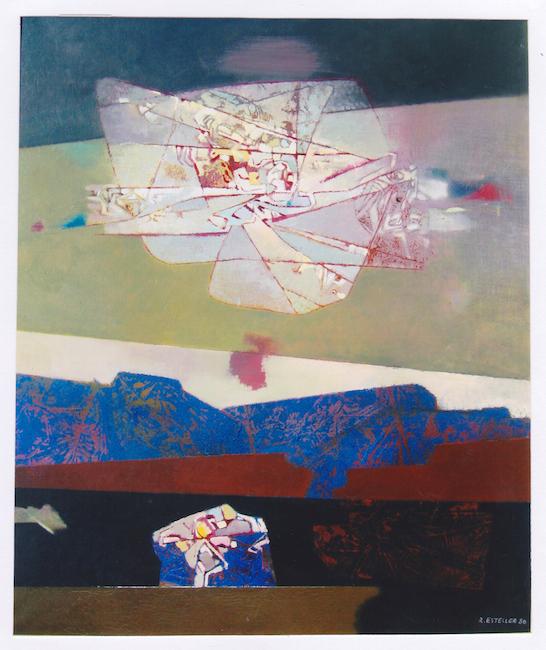 Luz fugitiva - 1980 - óleo sobre lienzo - 120 x 100 cm. (colección Ayuntamiento de Denia - Premio Nacional de Pintura)