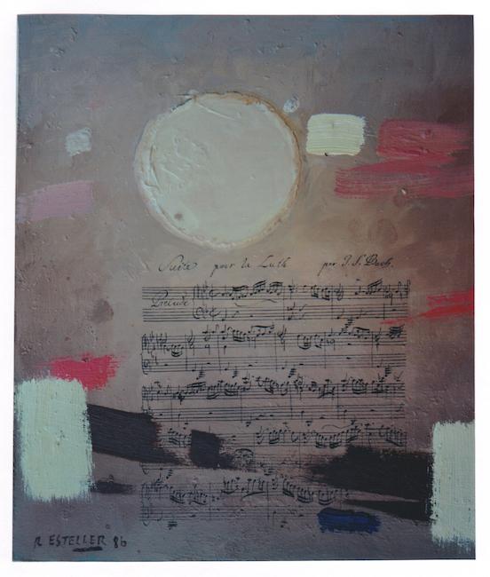 Suite pour Luth - 1986 - óleo sobre tabla - 50 x 40 cm. (colección Toni Lonjeda - Onda)