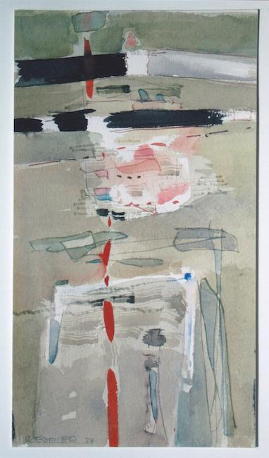 Pequeña acuarela - 1988 - acuarela - 23,2 x 13 cm.