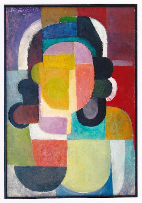 Retrato cubista - 1968 - óleo sobre papel - 44 x 30 cm.