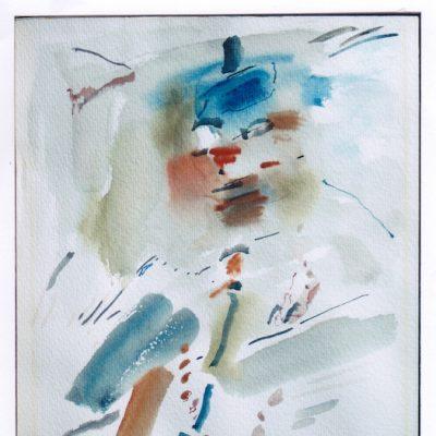 Figura - 1989 - acuarela - 32,4 x 26 cm. (colección Carmen Martínez - Valencia)