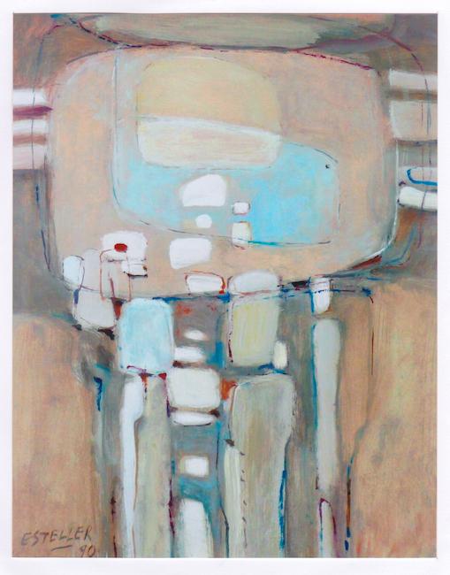 Composición - 1990 - óleo sobre papel - 32 x 25 cm. (colección Alicia Adelantado)