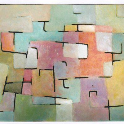 Composición - 1995 - óleo sobre papel - 31,2 x 50,3 cm.