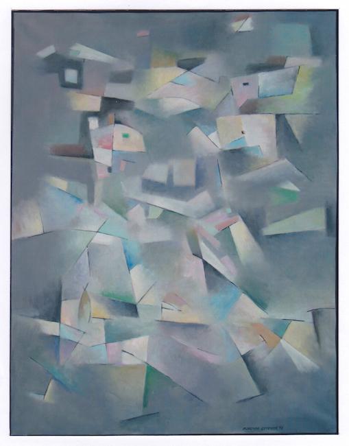 Cataclismo - 1993 - óleo sobre lienzo - 116 x 89 cm.