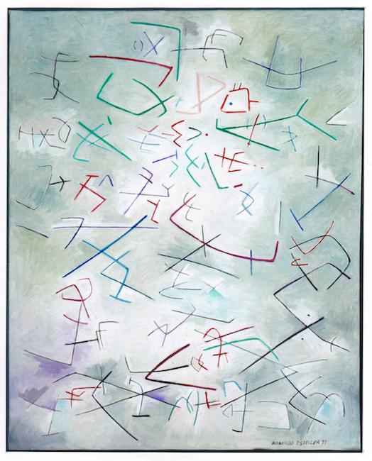 Microorganismos I - 1999 - óleo sobre lienzo - 92 x 73 cm.