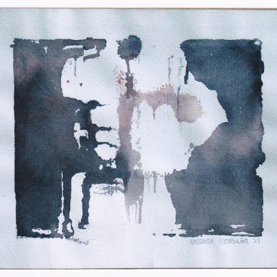 Observador - 1971 - acuarela - 27 x 33 cm.