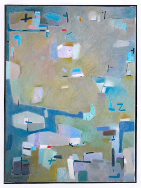 Cabeza beige - 2001 - óleo - 73 x 54 cm.