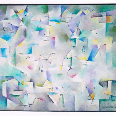 Hombres y fieras - 1999 - óleo sobre lienzo - 60 x 73 cm.