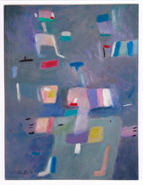 Juego de niños - 2001 - óleo sobre papel - 32,5 x 25 cm.
