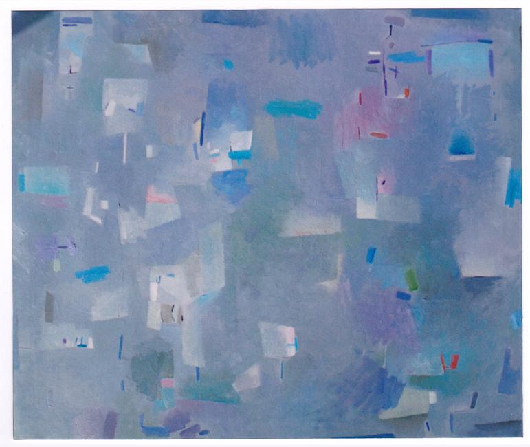 Espacio con azules - 2001 - óleo sobre lienzo - 81 x 100 cm.