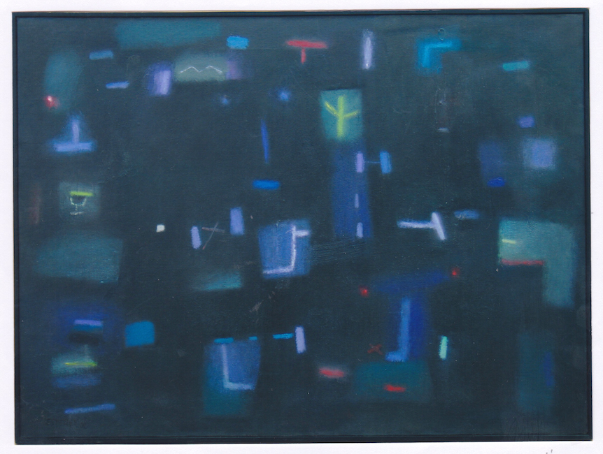 Luces en la oscuridad - 2002 - óleo - 54 x 73 cm. (colección Alzina Esteller - Aín)