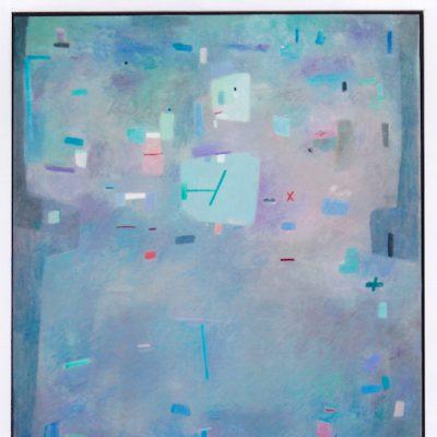 Verde en cuadrado - 2002 - óleo sobre lienzo - 116 x 89 cm. (colección Auditorio de Castellón)