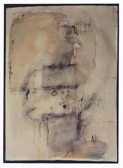 Cabeza en beige - 1971 - acuarela - 65 X 50 cm.