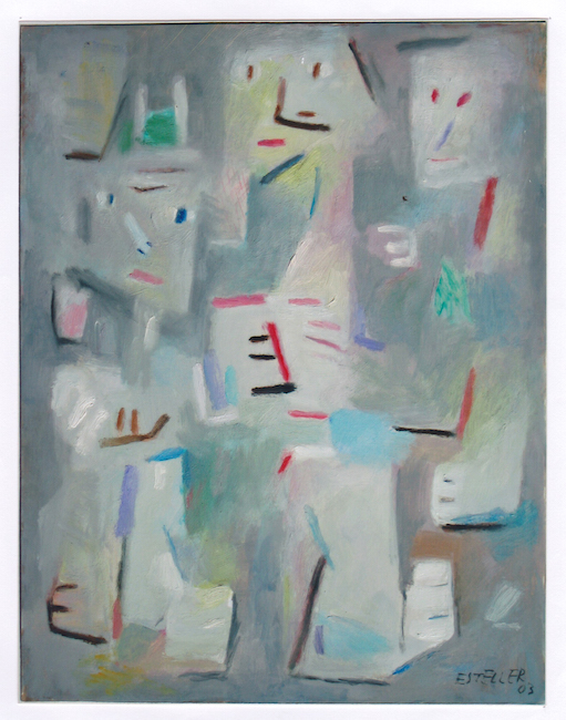 3 figuras - 2003 - óleo sobre papel - 32,5 x 25 cm.