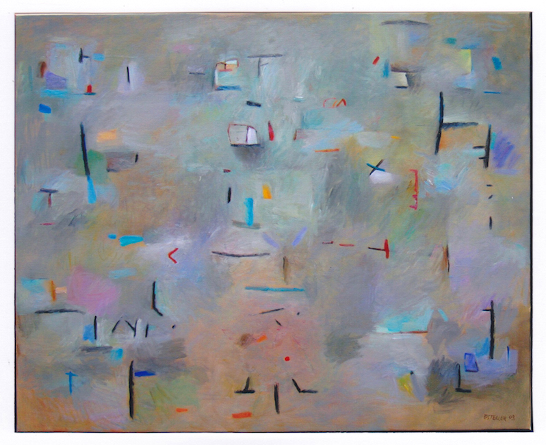 Sonrisa en ocre - 2003 - óleo - 81 x 100 cm. (colección Marisa Soler - Mallorca)