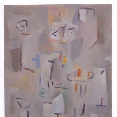 Arqueólogo - 2004 - óleo sobre papel - 32,5 x 25 cm. (colección Marisa Soler - Andraxt . Mallorca)