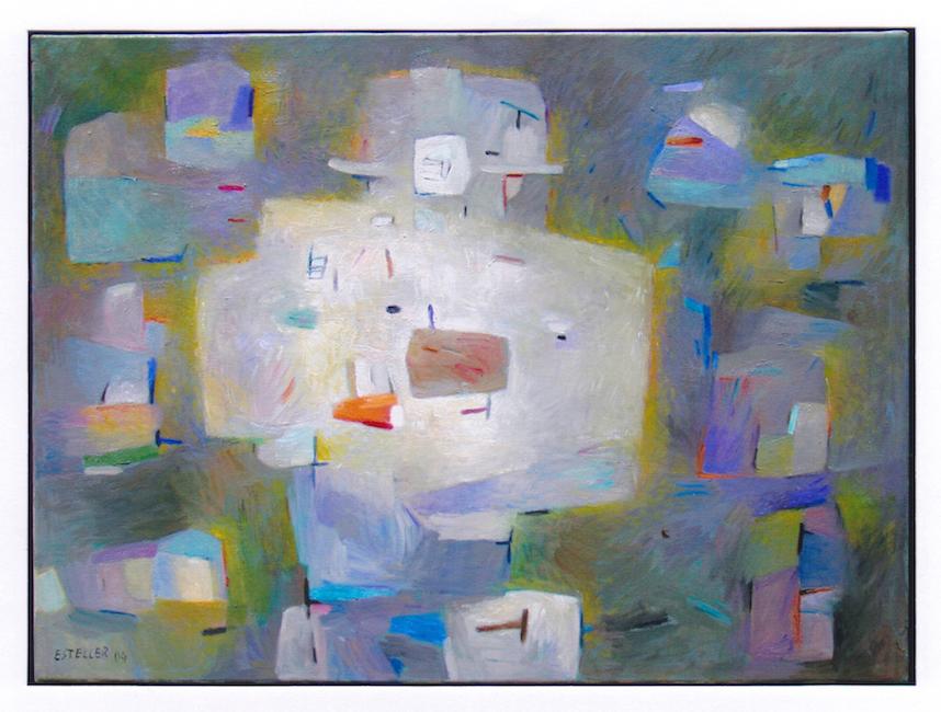 Cabeza luminosa con sombrero - 2004 - óleo sobre lienzo - 54 x 73 cm.