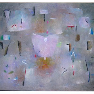 Flor entre signos - 2004 - óleo sobre lienzo - 81 x 100 cm.