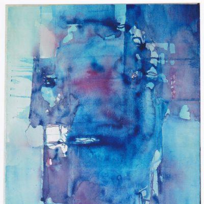 Cabeza azul - 1971 - acuarela - 65 X 50 cm.