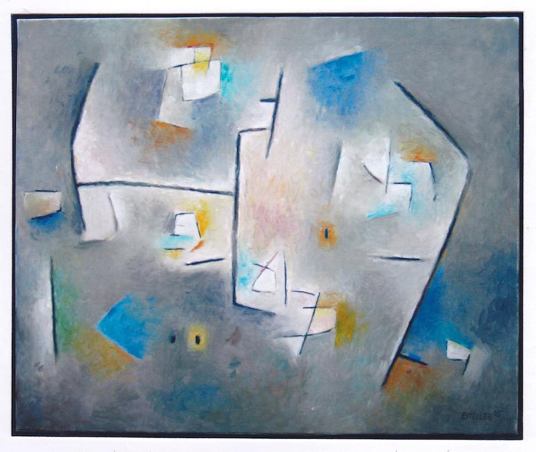 Composición - 2005 - óleo sobre lienzo - 60 x 73 cm. (colección Alejandro Gimeno - Eslida)