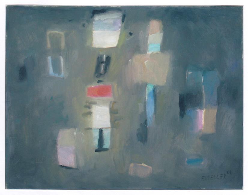 Totem - 2006 - óleo sobre papel - 25 x 32,5 (vendido en el museo de Vilafamés)